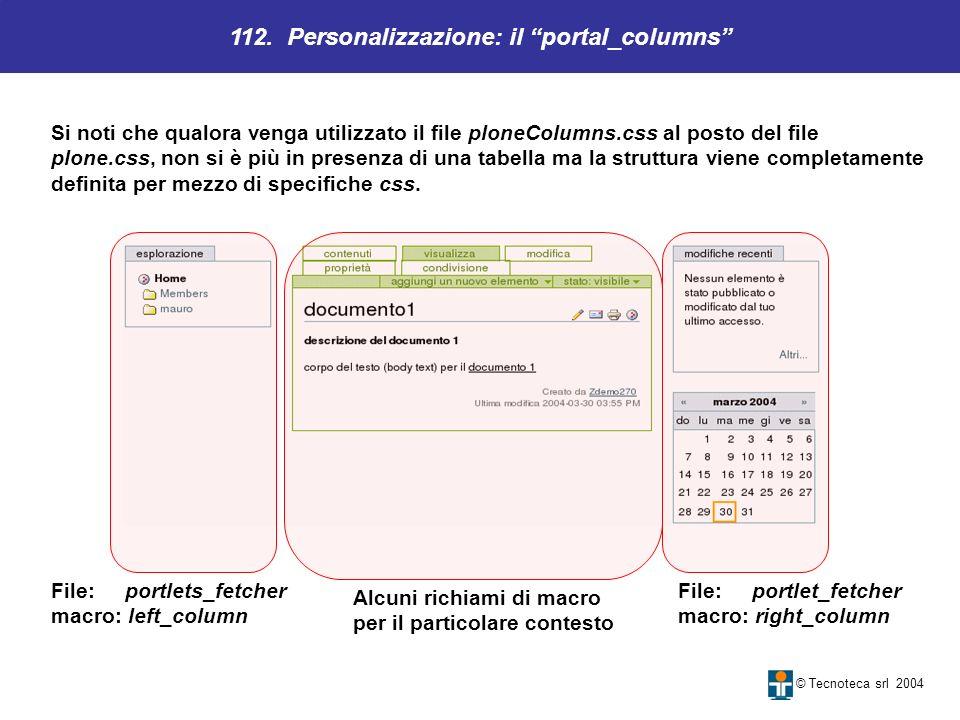 112. Personalizzazione: il portal_columns