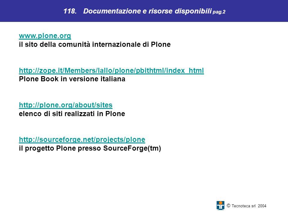 118. Documentazione e risorse disponibili pag.2