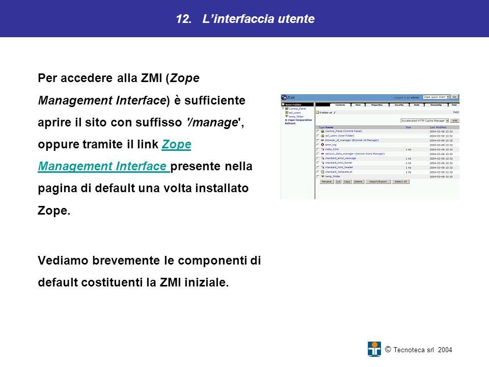 12. L'interfaccia utente