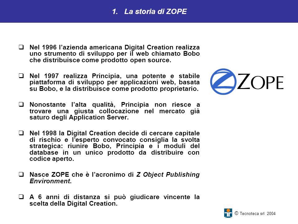 1. La storia di ZOPE