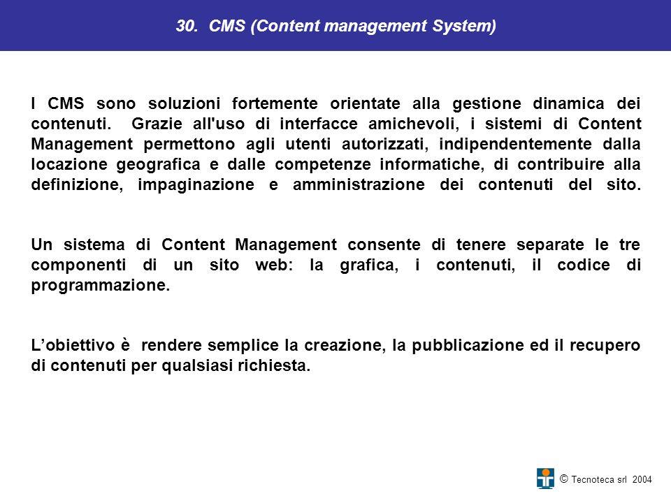 30. CMS (Content management System)
