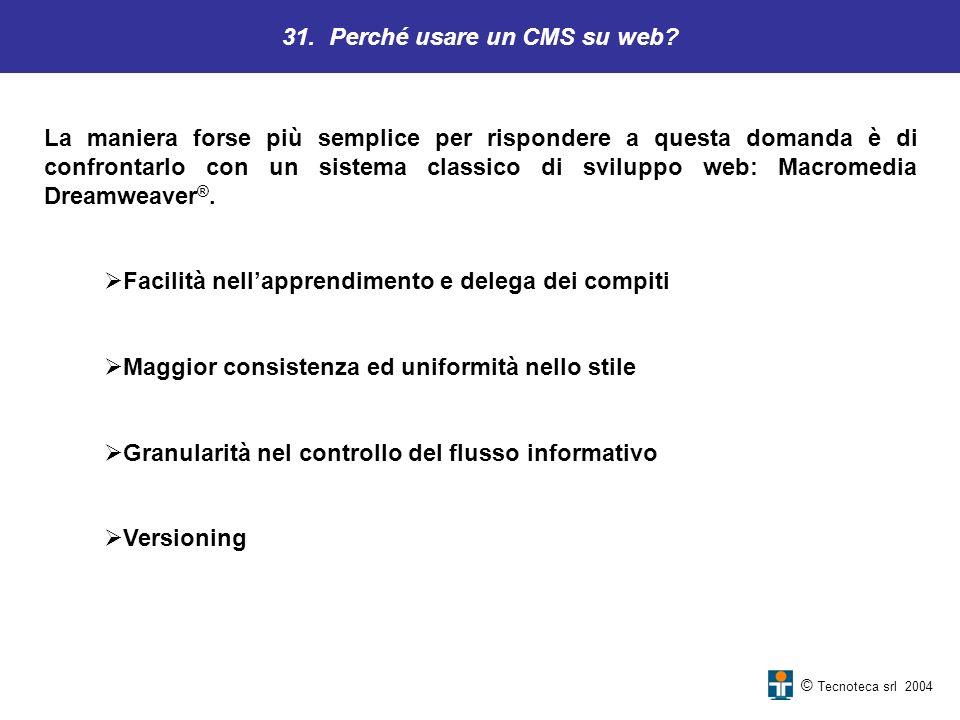 31. Perché usare un CMS su web