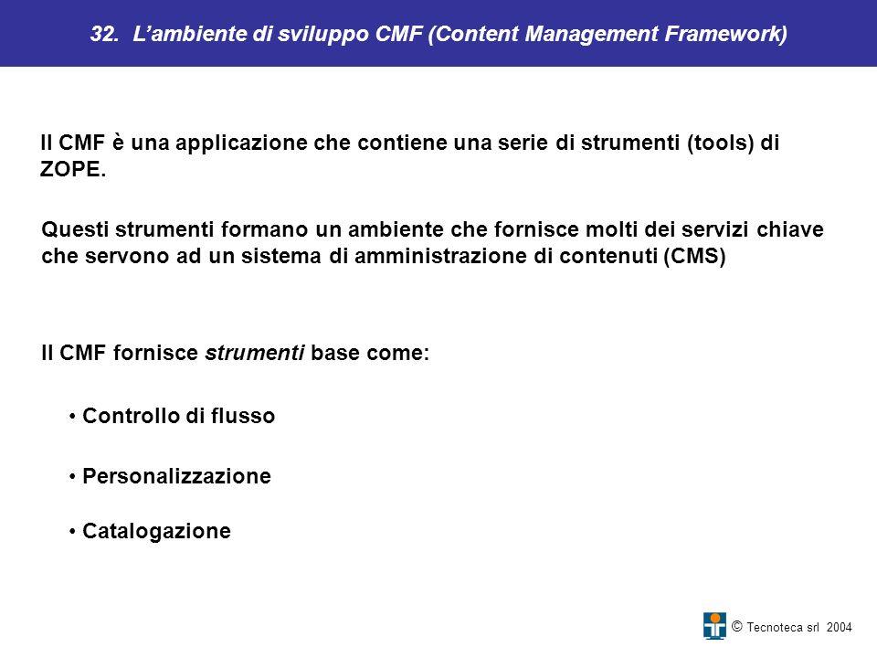 32. L'ambiente di sviluppo CMF (Content Management Framework)