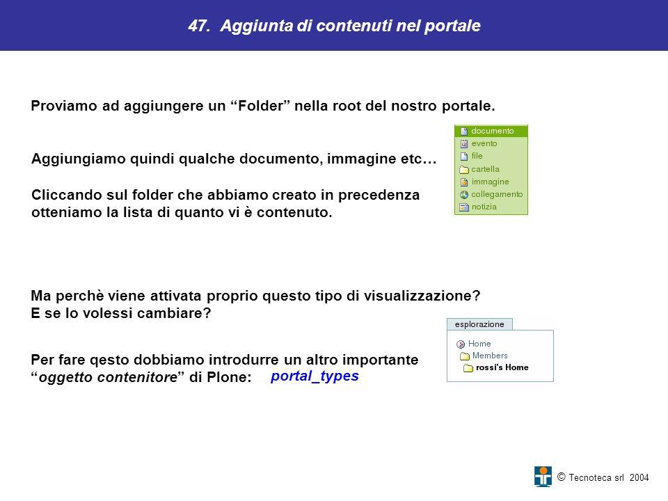 47. Aggiunta di contenuti nel portale