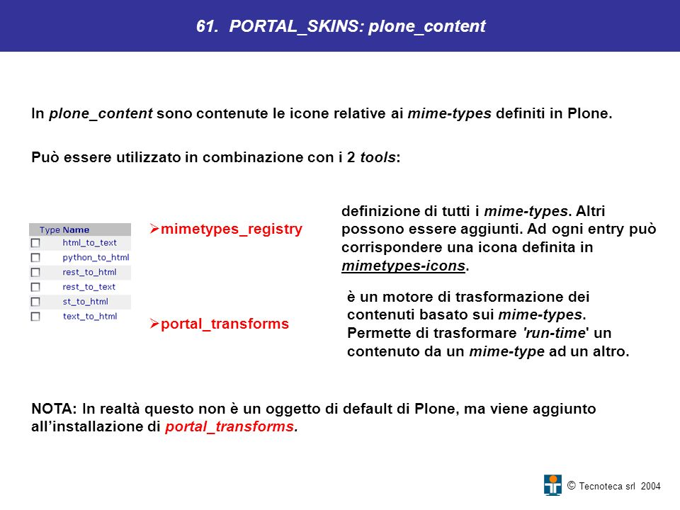 61. PORTAL_SKINS: plone_content