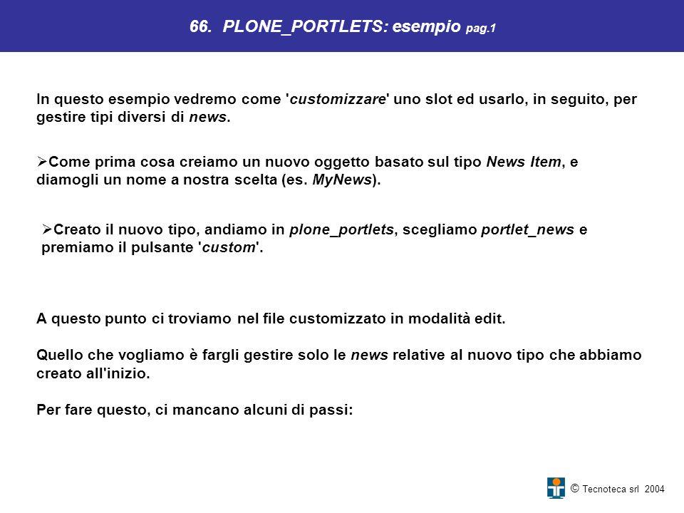 66. PLONE_PORTLETS: esempio pag.1