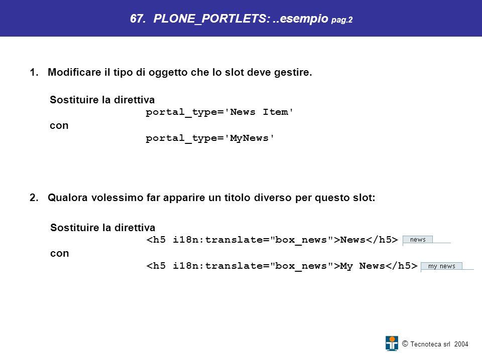67. PLONE_PORTLETS: ..esempio pag.2
