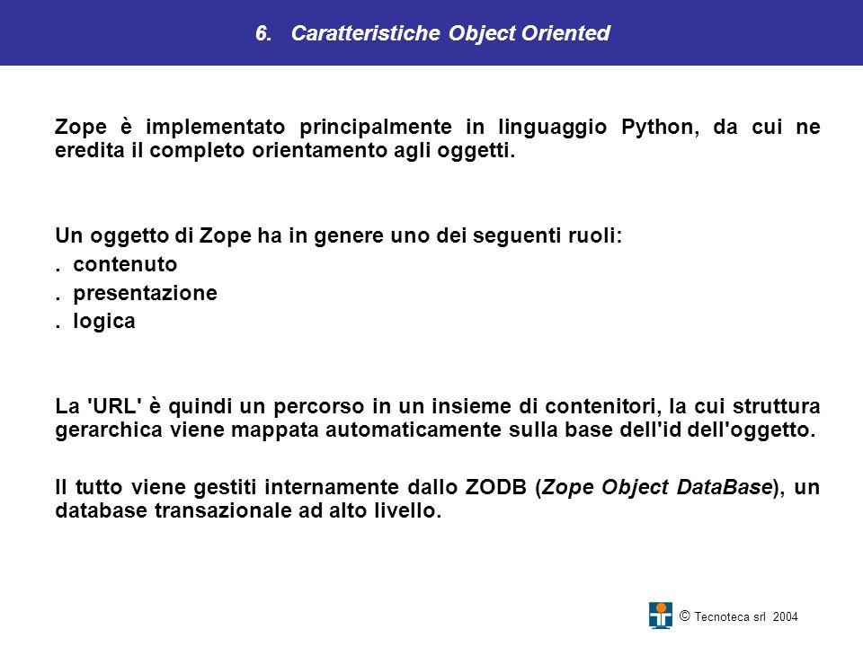 6. Caratteristiche Object Oriented