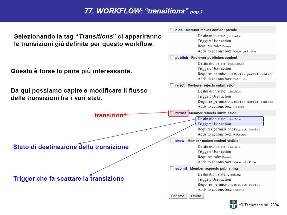 77. WORKFLOW: transitions pag.1