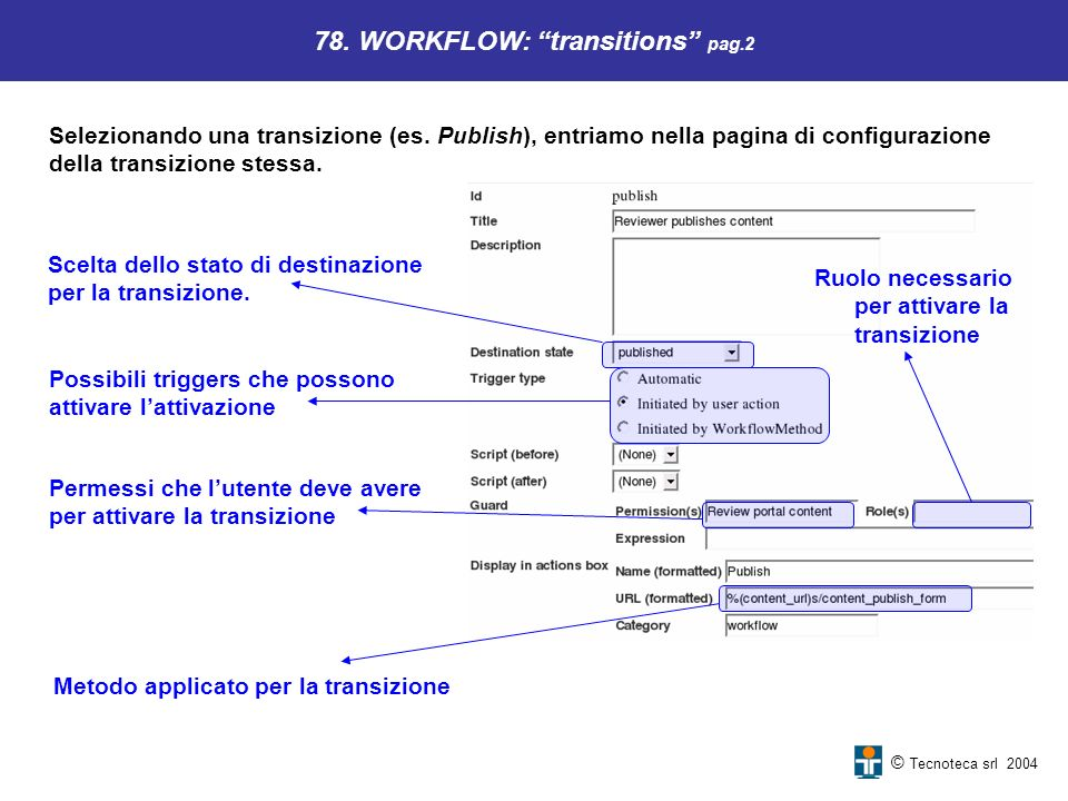 78. WORKFLOW: transitions pag.2
