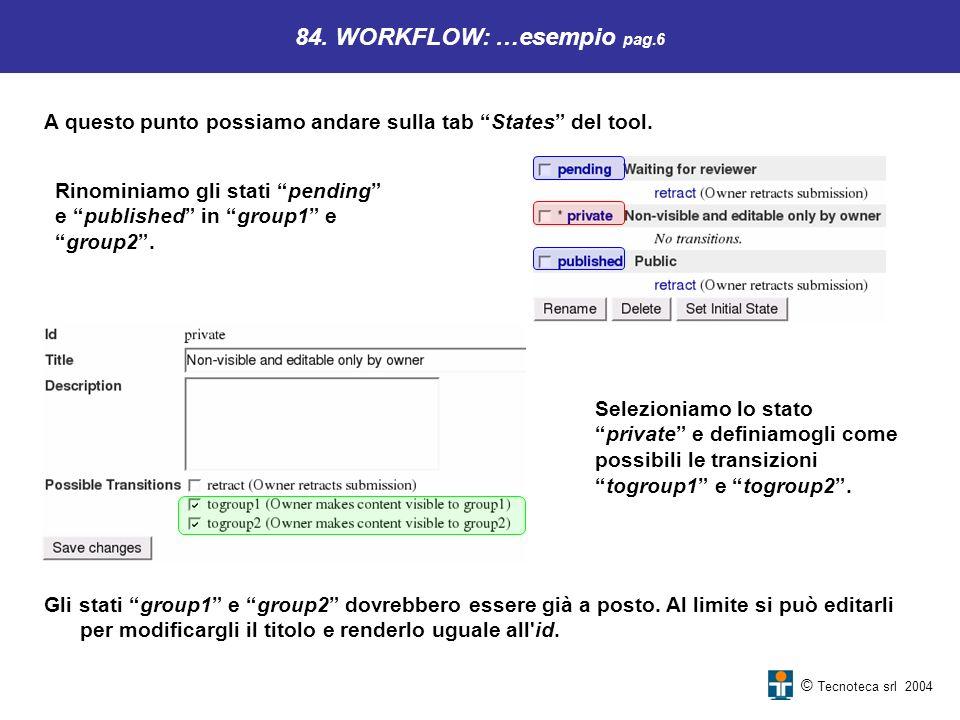 84. WORKFLOW: …esempio pag.6