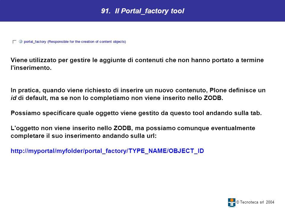 91. Il Portal_factory tool