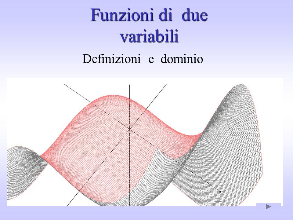 Funzioni di due variabili