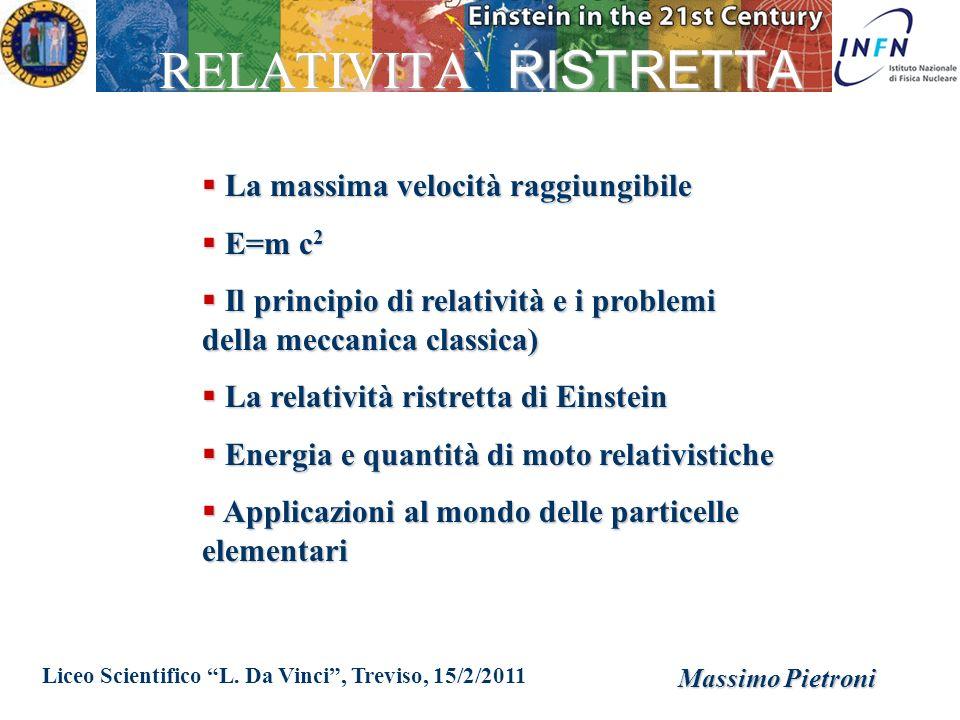 RELATIVITA` RISTRETTA