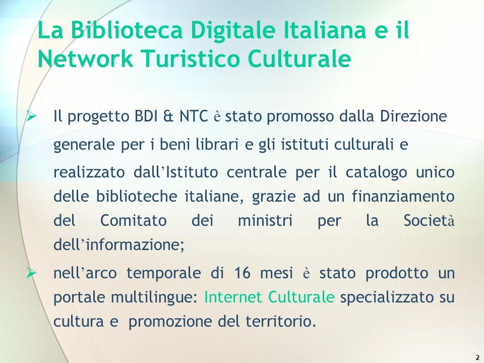 La Biblioteca Digitale Italiana e il Network Turistico Culturale