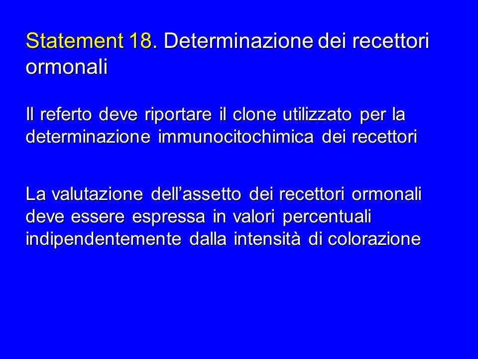 Statement 18. Determinazione dei recettori ormonali