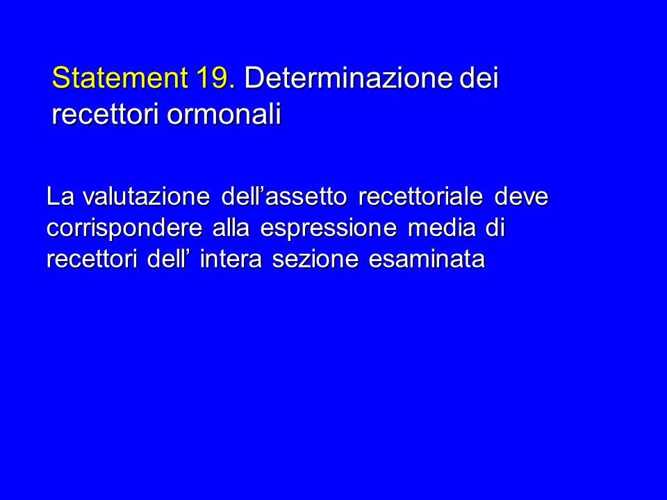 Statement 19. Determinazione dei recettori ormonali
