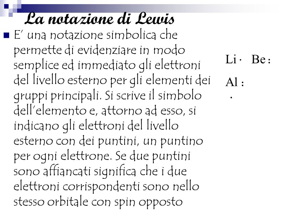 La notazione di Lewis