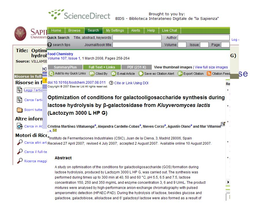 Optimization of conditions for galactooligosaccharide synthesis during lactose hydrolysis by β-galactosidase from Kluyveromyces lactis (Lactozym 3000 L HP G)