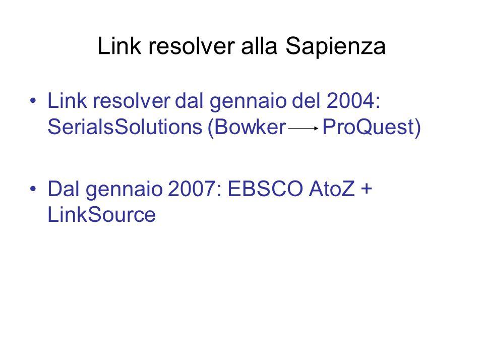 Link resolver alla Sapienza