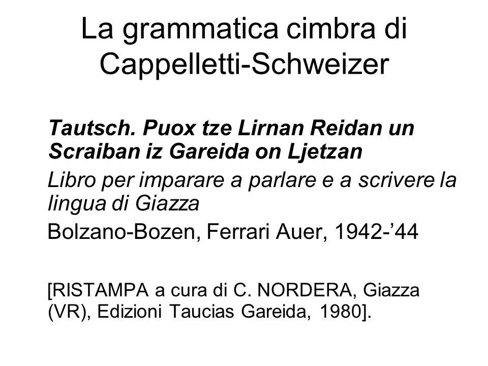 La grammatica cimbra di Cappelletti-Schweizer