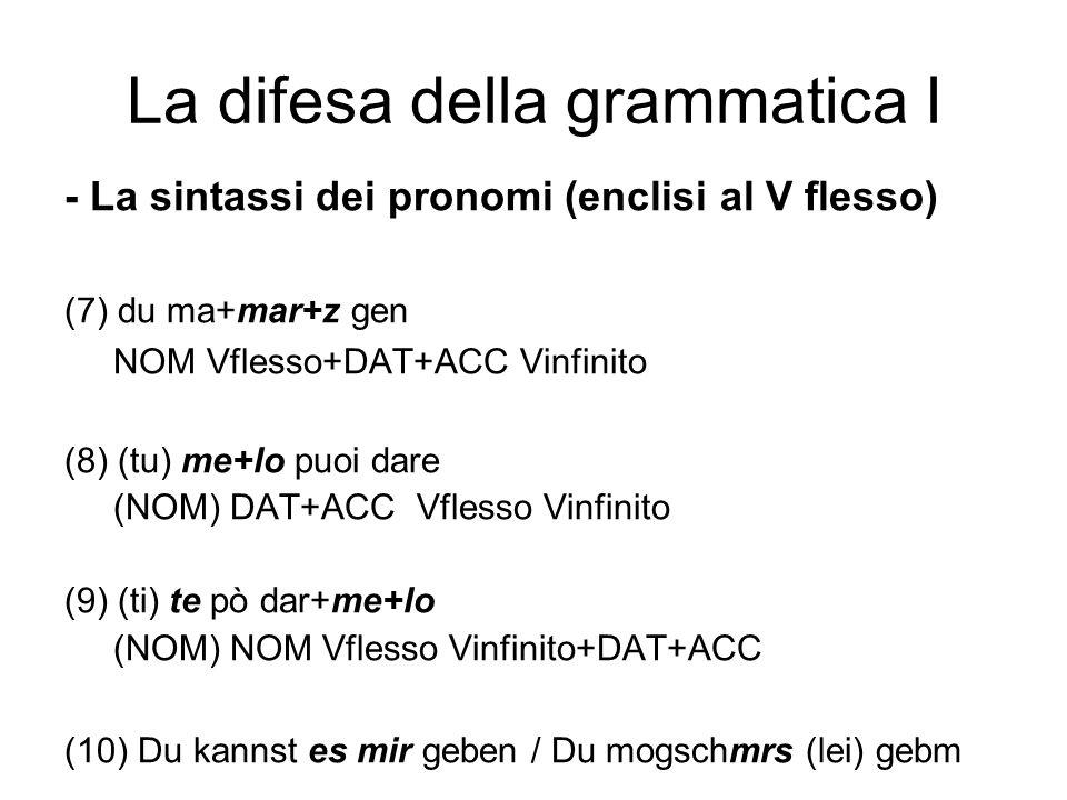 La difesa della grammatica I