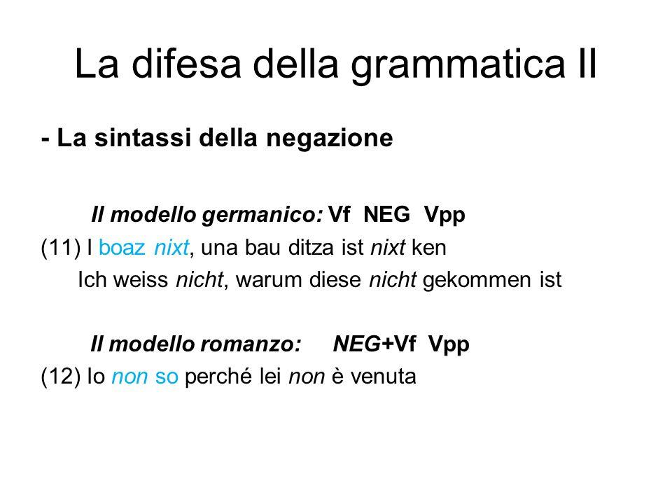 La difesa della grammatica II