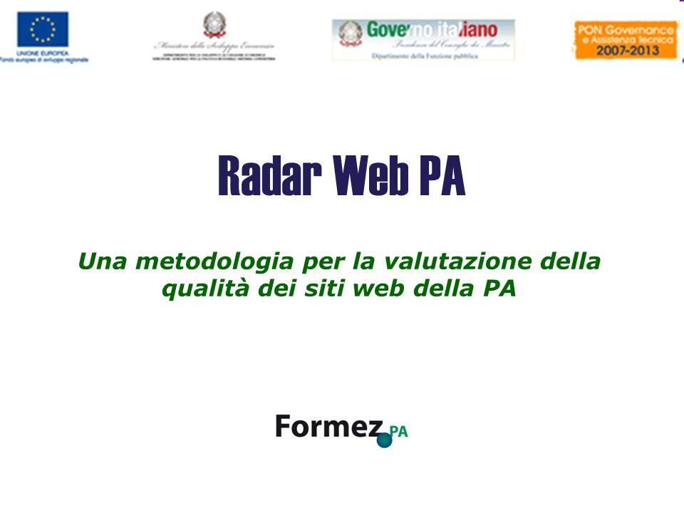 Una metodologia per la valutazione della qualità dei siti web della PA