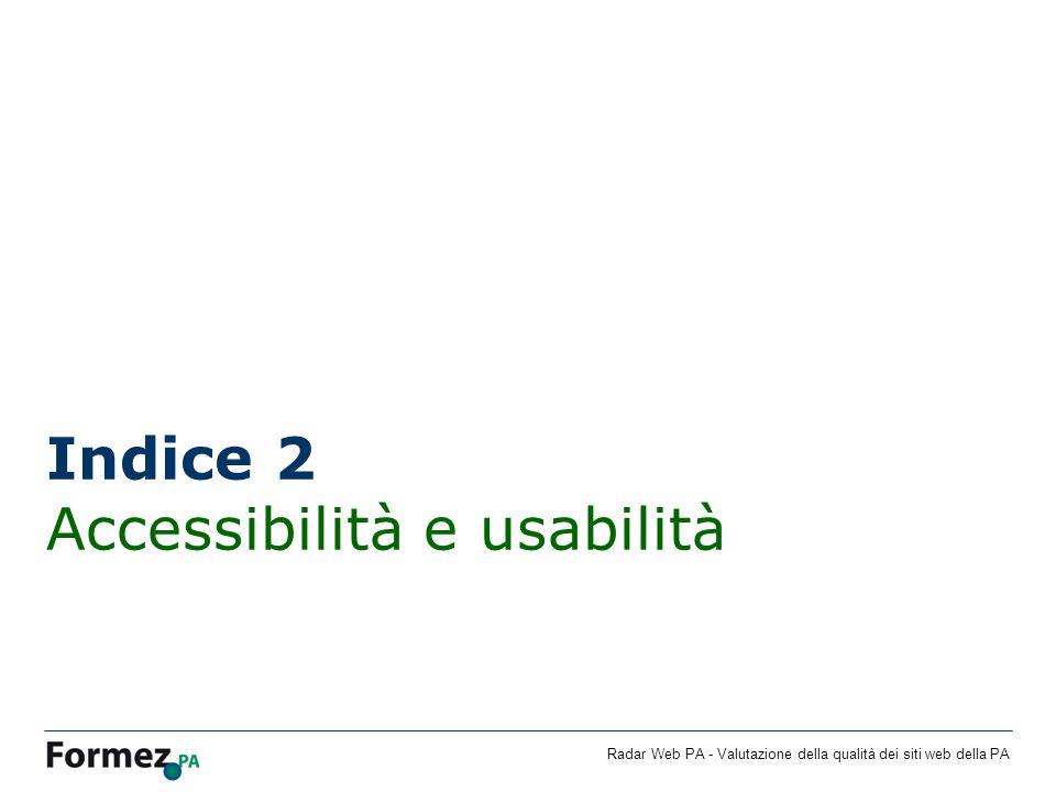 Indice 2 Accessibilità e usabilità