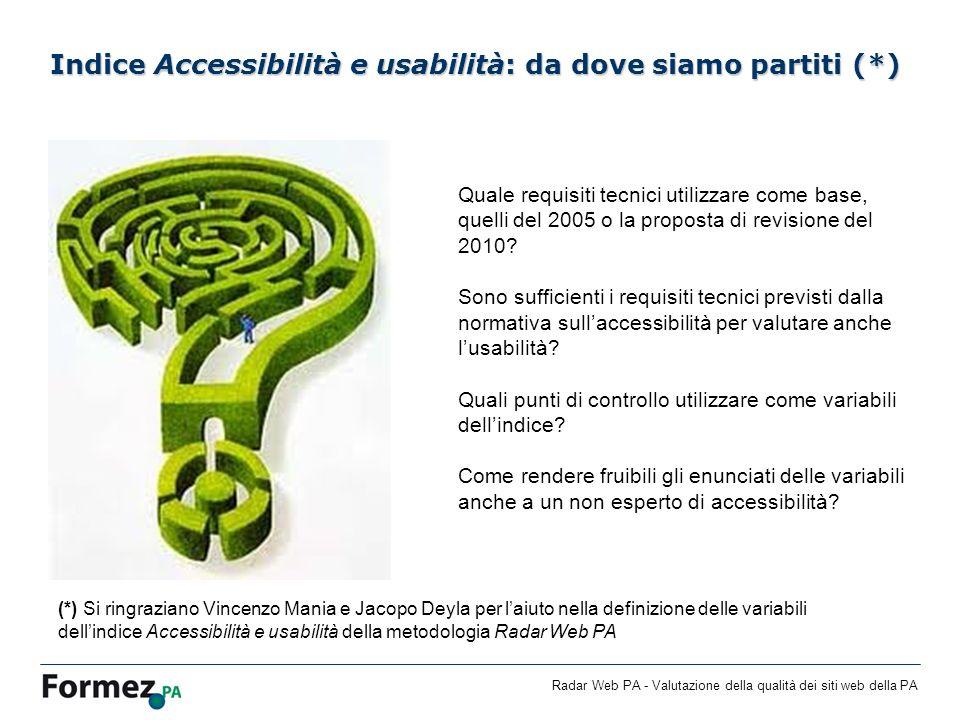 Indice Accessibilità e usabilità: da dove siamo partiti (*)