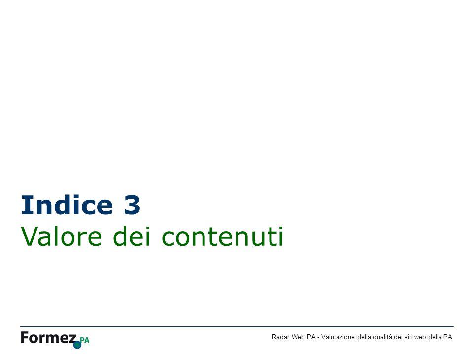 Indice 3 Valore dei contenuti