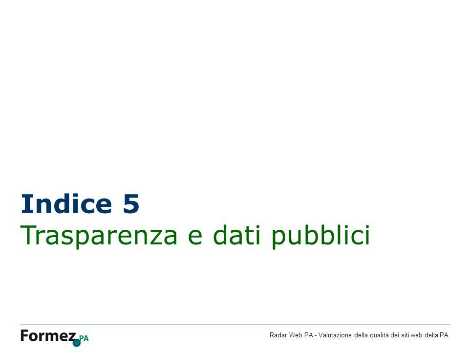 Indice 5 Trasparenza e dati pubblici