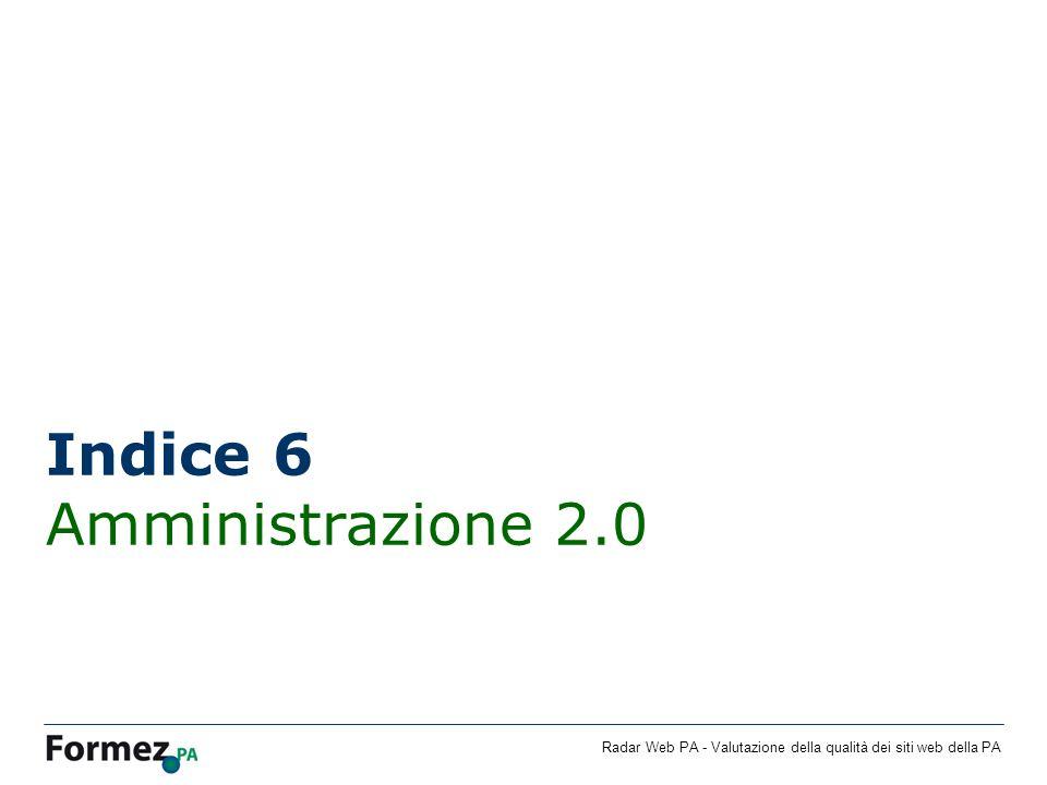 Indice 6 Amministrazione 2.0