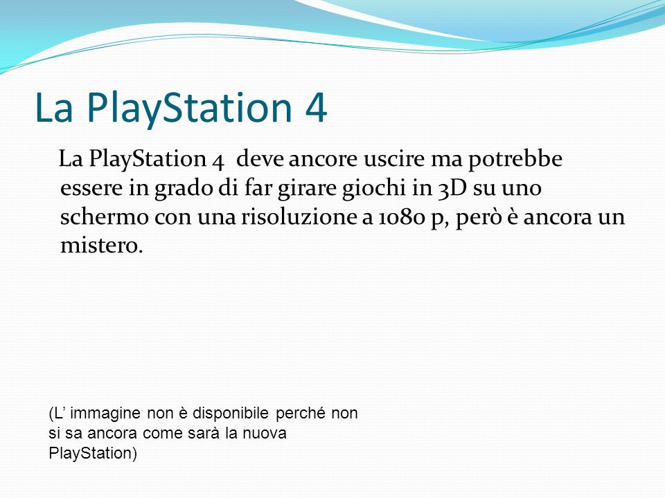 La PlayStation 4