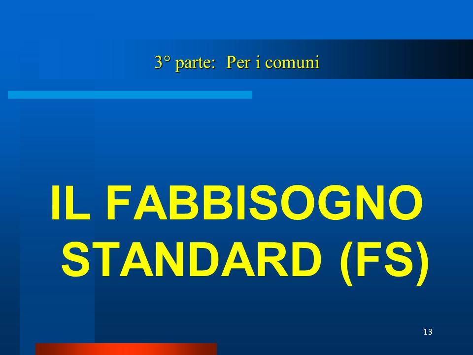 IL FABBISOGNO STANDARD (FS)