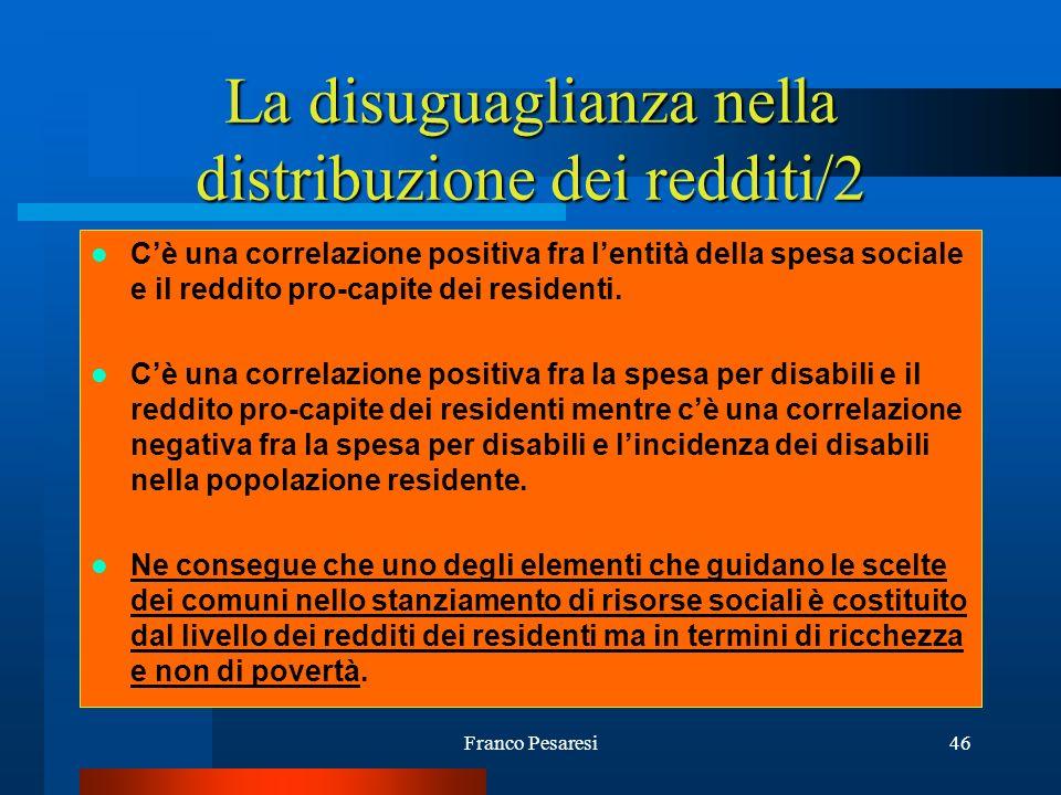 La disuguaglianza nella distribuzione dei redditi/2