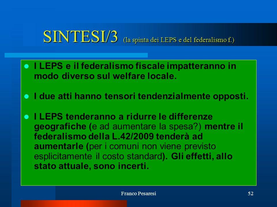 SINTESI/3 (la spinta dei LEPS e del federalismo f.)