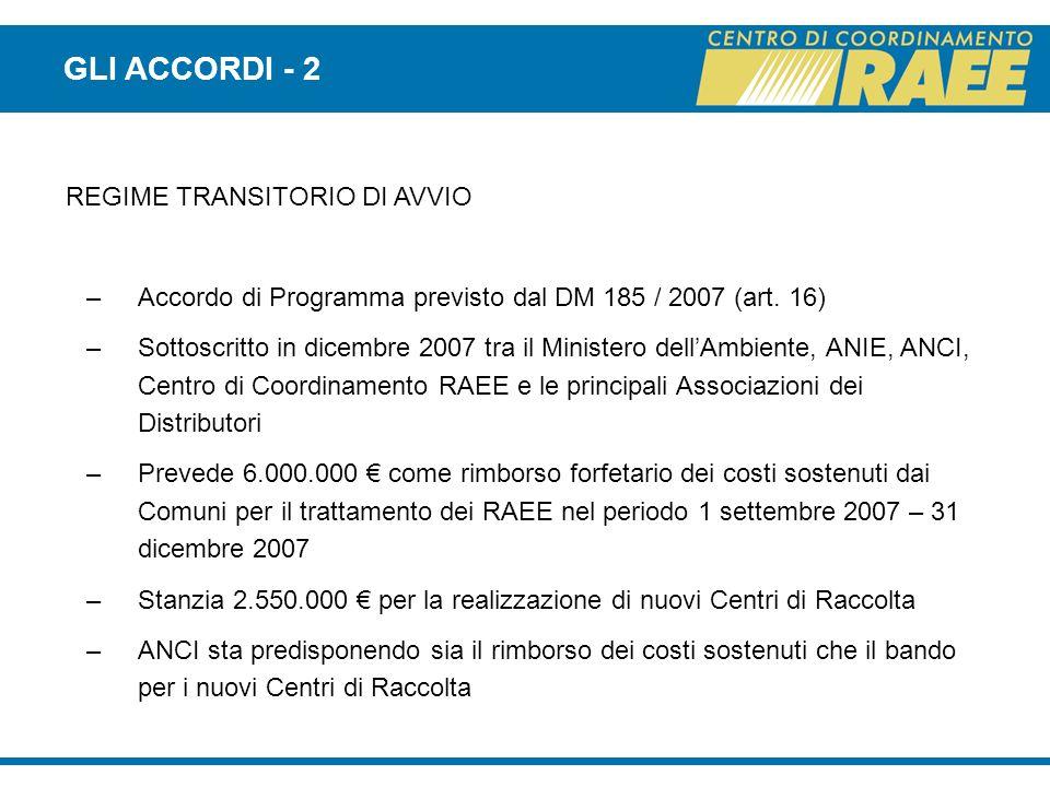 GLI ACCORDI - 2 REGIME TRANSITORIO DI AVVIO