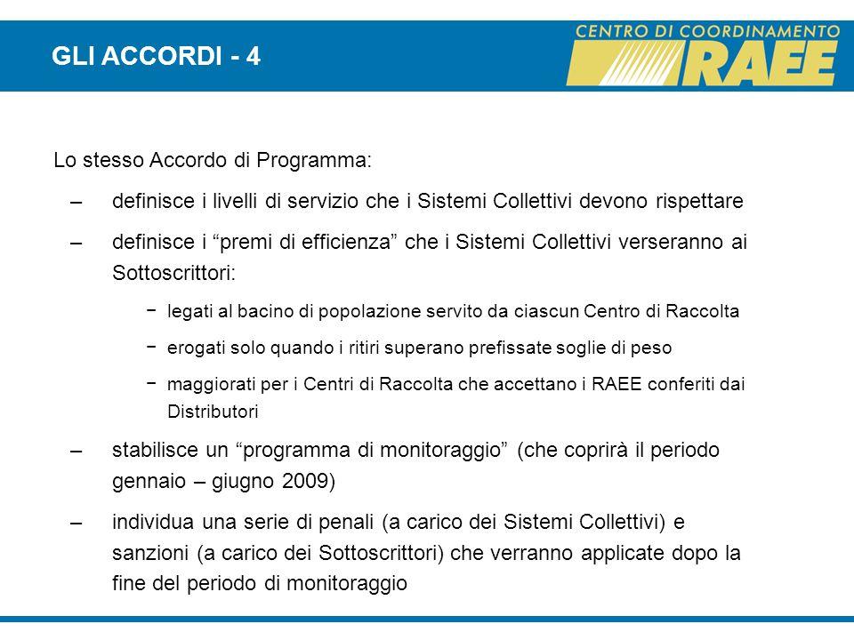 GLI ACCORDI - 4 Lo stesso Accordo di Programma: