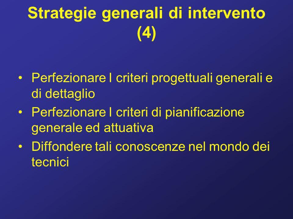 Strategie generali di intervento (4)