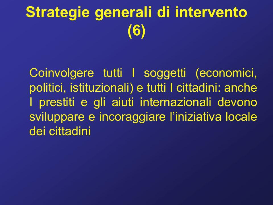 Strategie generali di intervento (6)