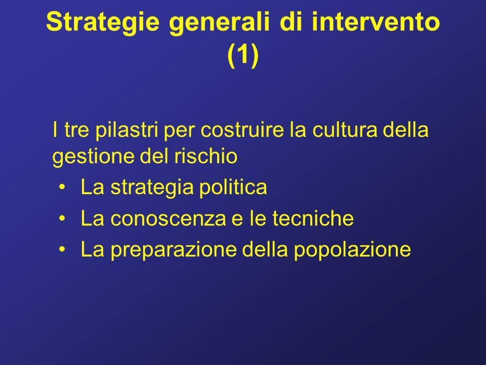 Strategie generali di intervento (1)