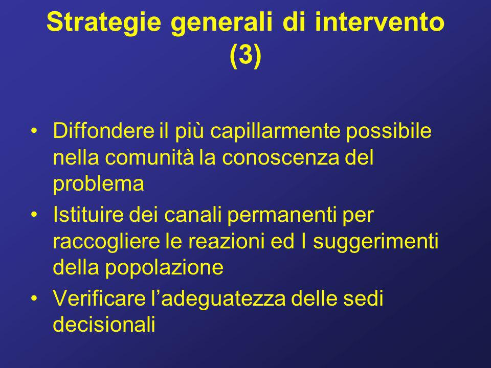 Strategie generali di intervento (3)