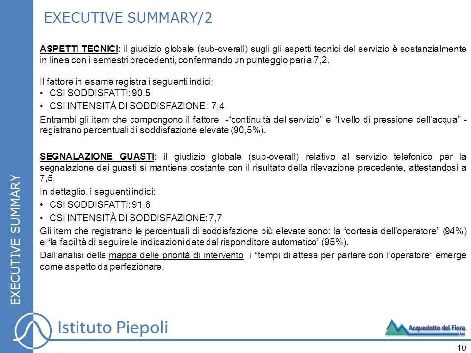 EXECUTIVE SUMMARY/2 EXECUTIVE SUMMARY