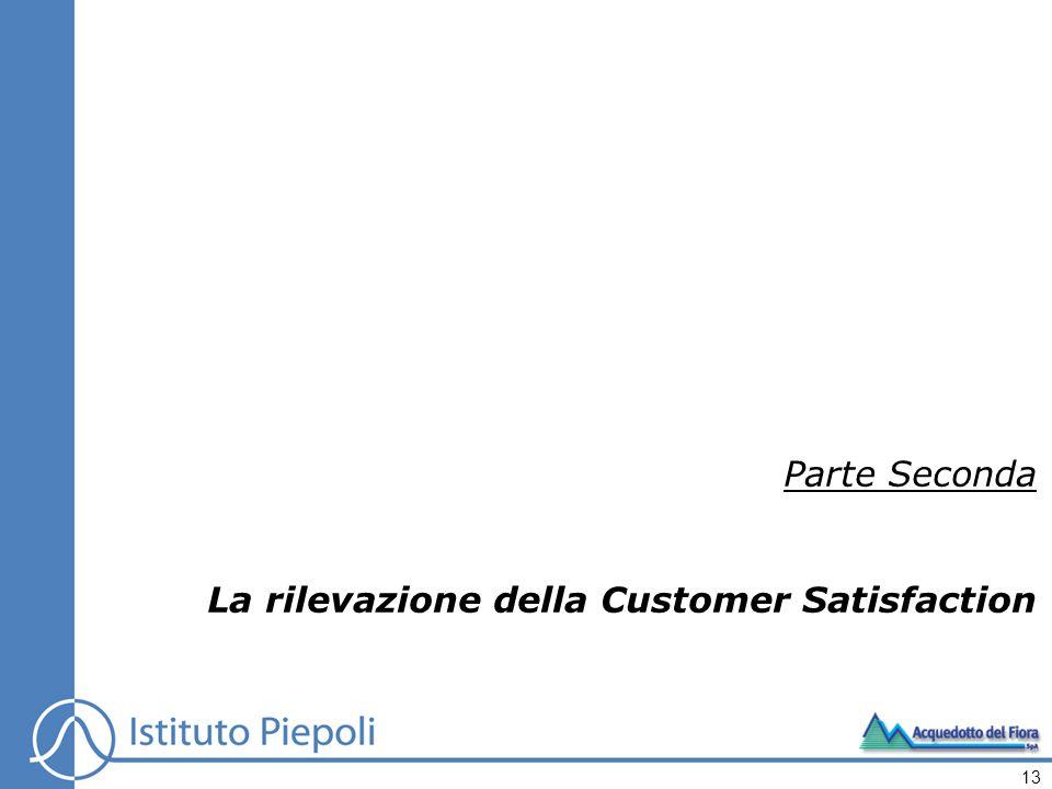 Parte Seconda La rilevazione della Customer Satisfaction