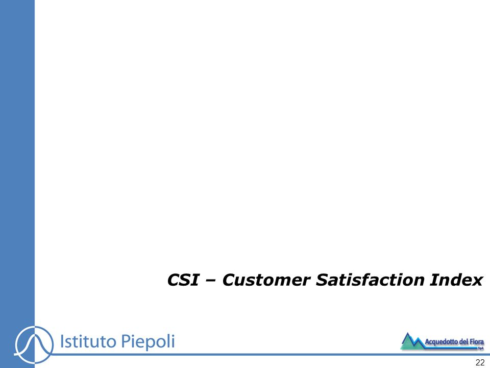 CSI – Customer Satisfaction Index