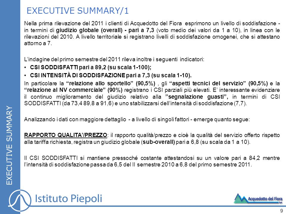 EXECUTIVE SUMMARY/1 EXECUTIVE SUMMARY