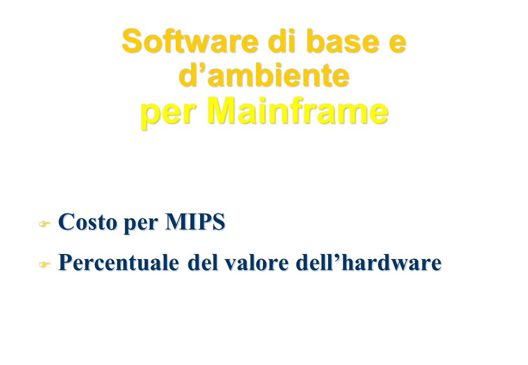 Software di base e d'ambiente per Mainframe