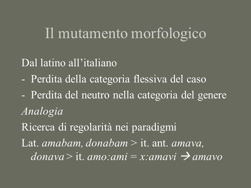 Il mutamento morfologico