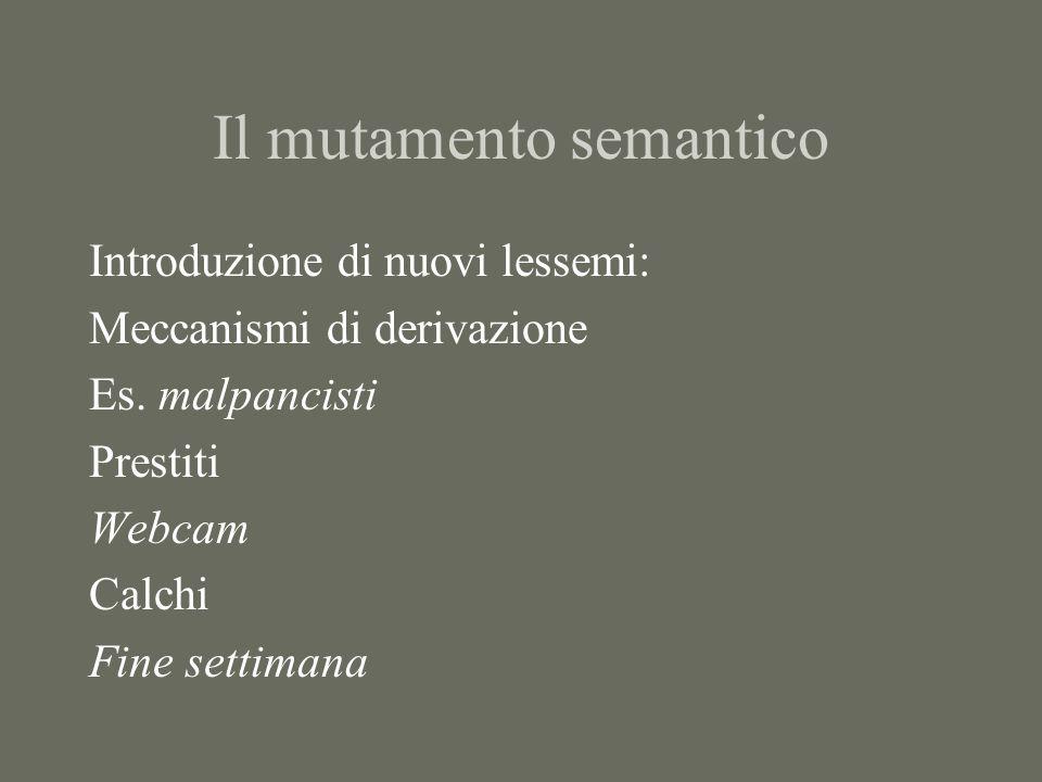 Il mutamento semantico